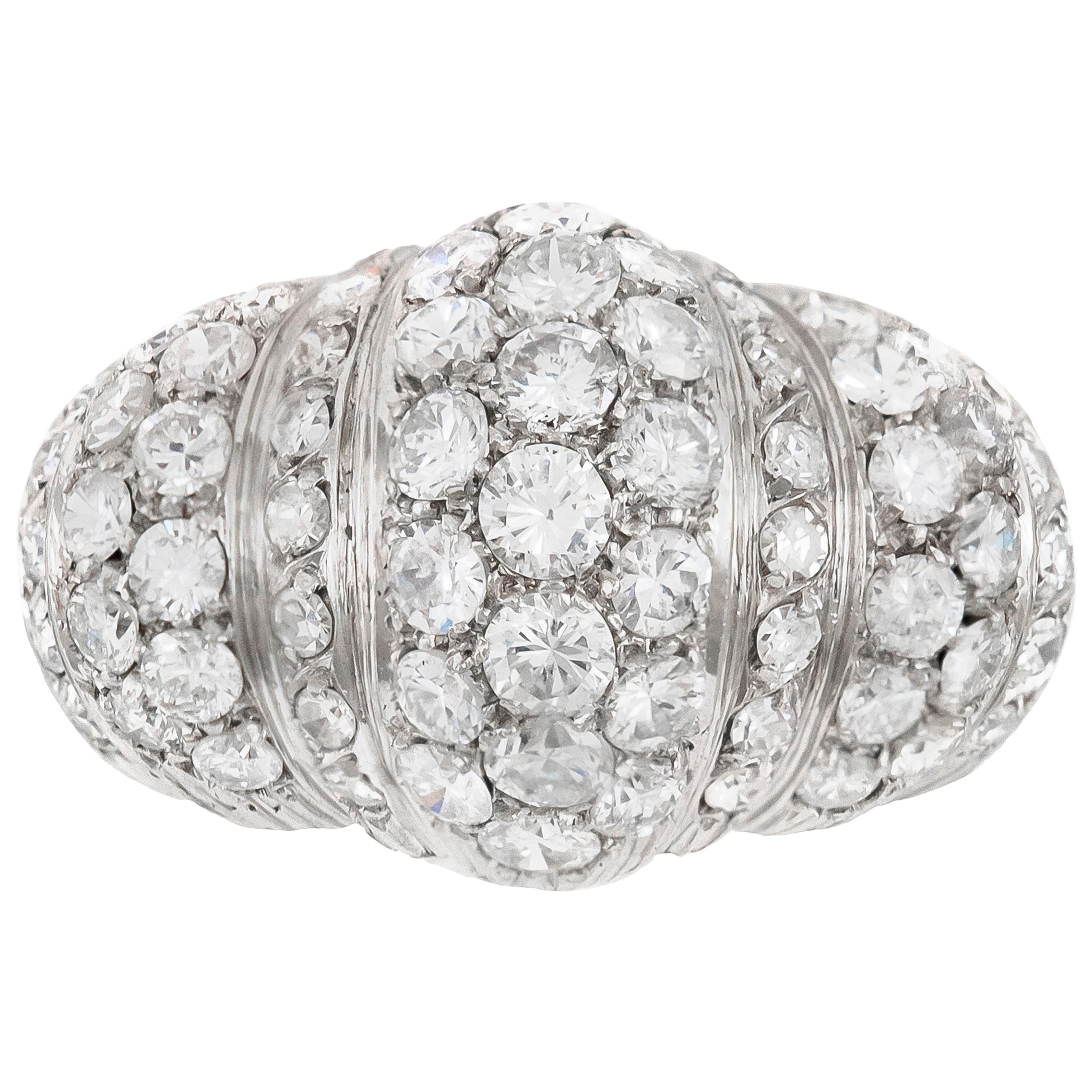 1940s High Setting with Diamonds Ring
