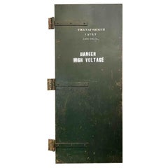 1940s Industrial Transformer Vault Green Steel Door