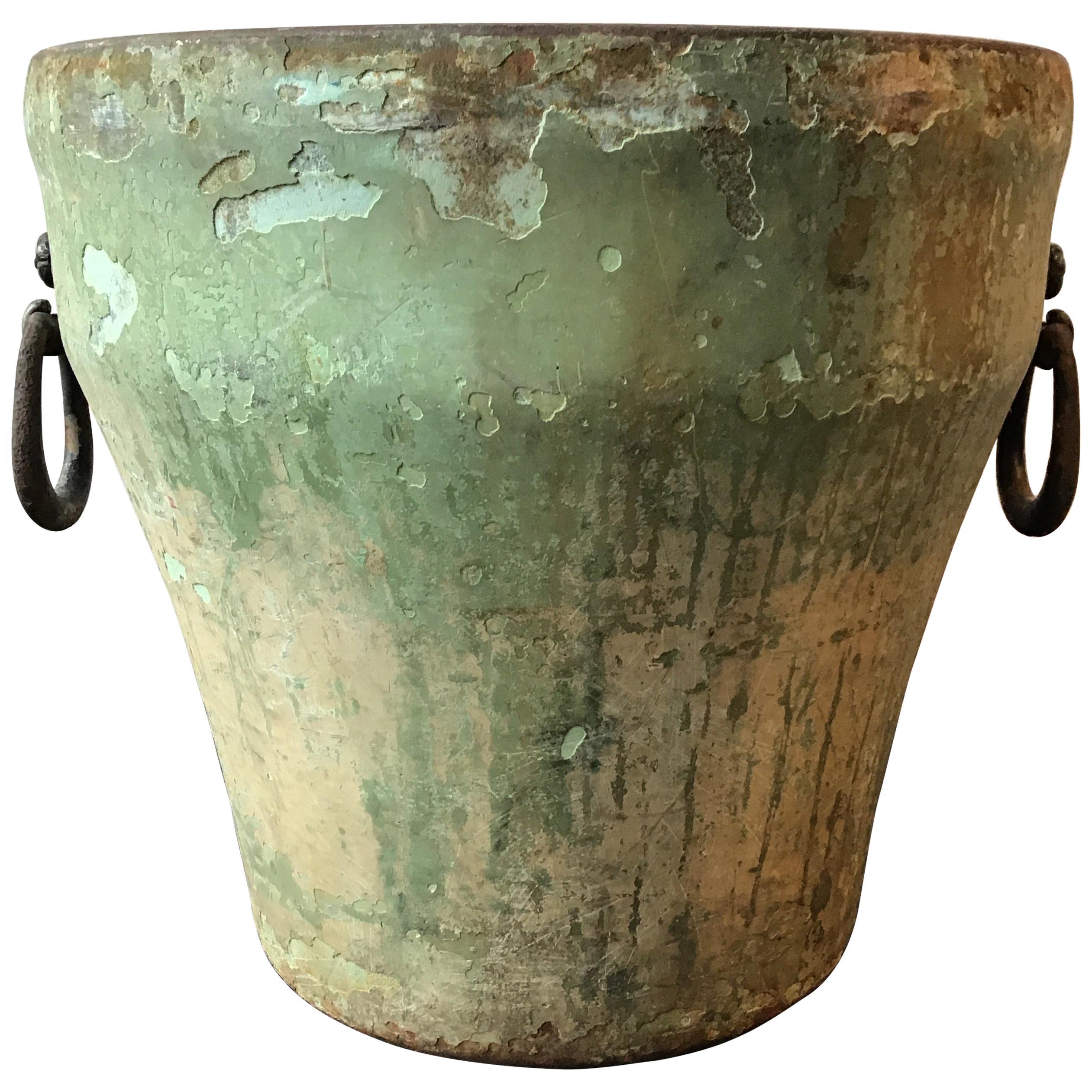 1940s Iron Flower Pot