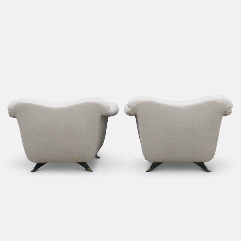 1940s Italian Armchairs Attributed to Guglielmo Ulrich For Sale 4