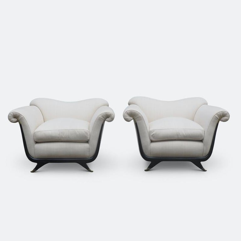 1940s Italian Armchairs Attributed to Guglielmo Ulrich For Sale 5