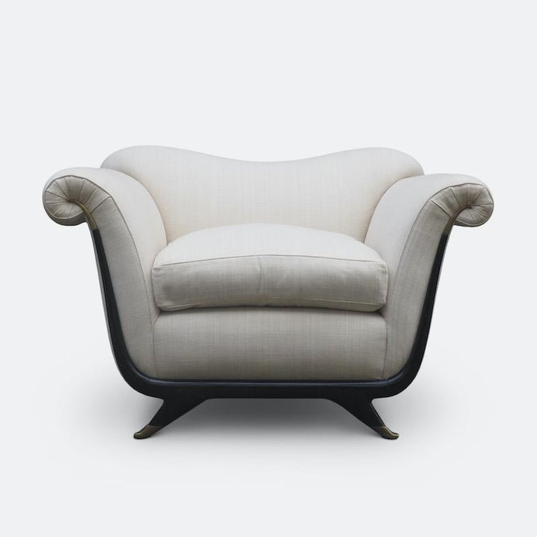 1940s Italian Armchairs Attributed to Guglielmo Ulrich For Sale 1