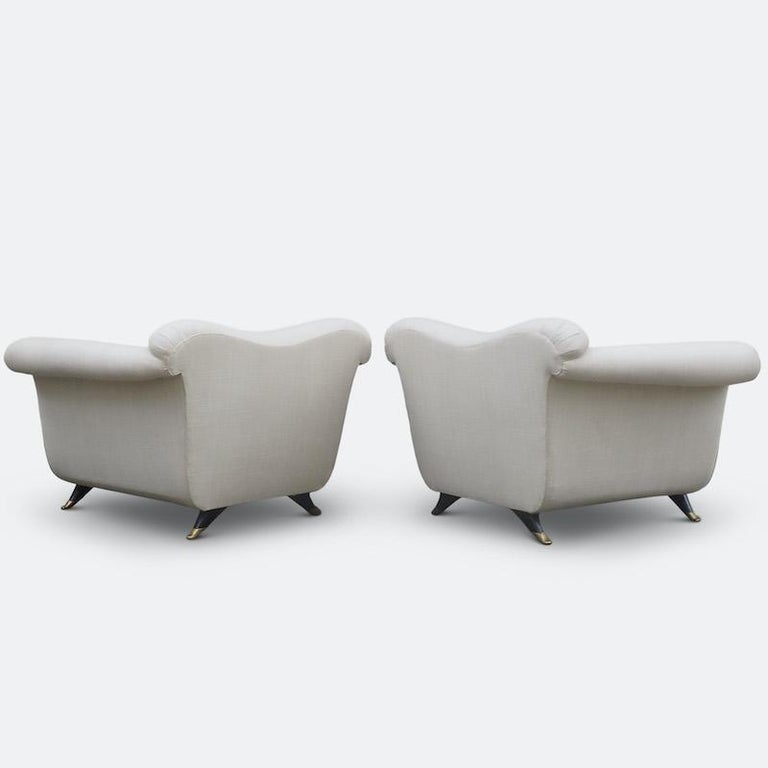 1940s Italian Armchairs Attributed to Guglielmo Ulrich For Sale 3