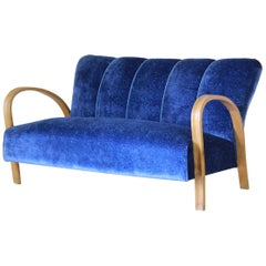 1940s vintage sofa in art deco style