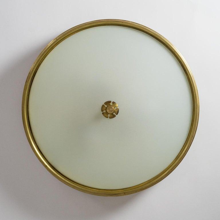 1940s Italian Brass Flush Mount by Paolo Buffa For Sale 5