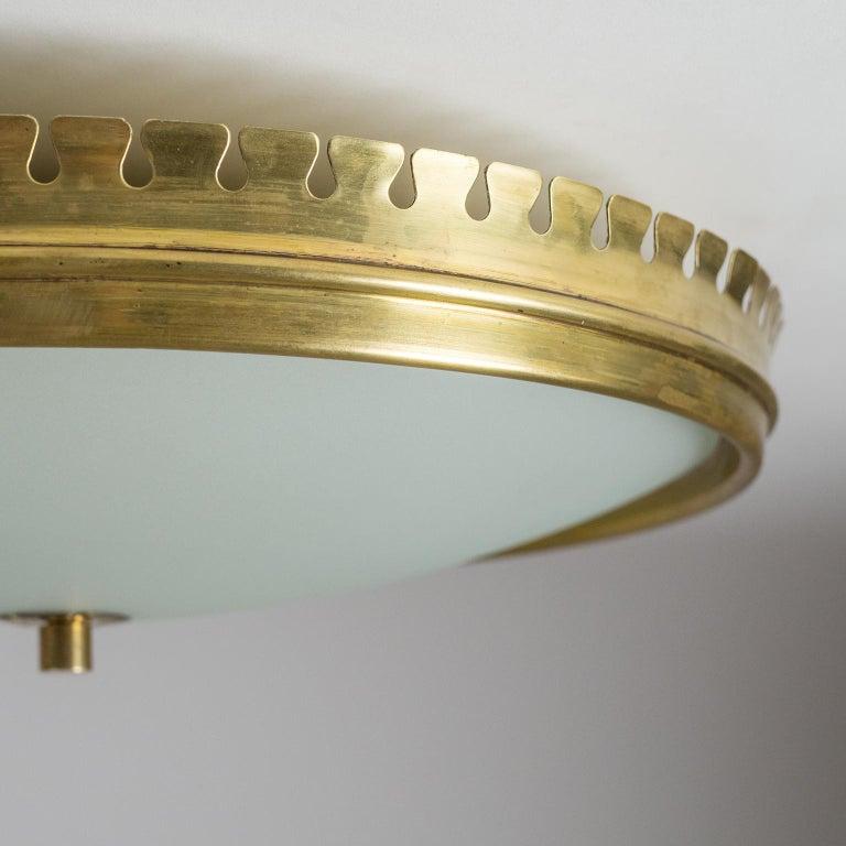 1940s Italian Brass Flush Mount by Paolo Buffa For Sale 2