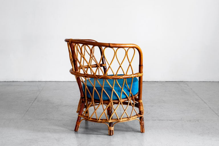 1940s Italian Caned Armchairs For Sale 5