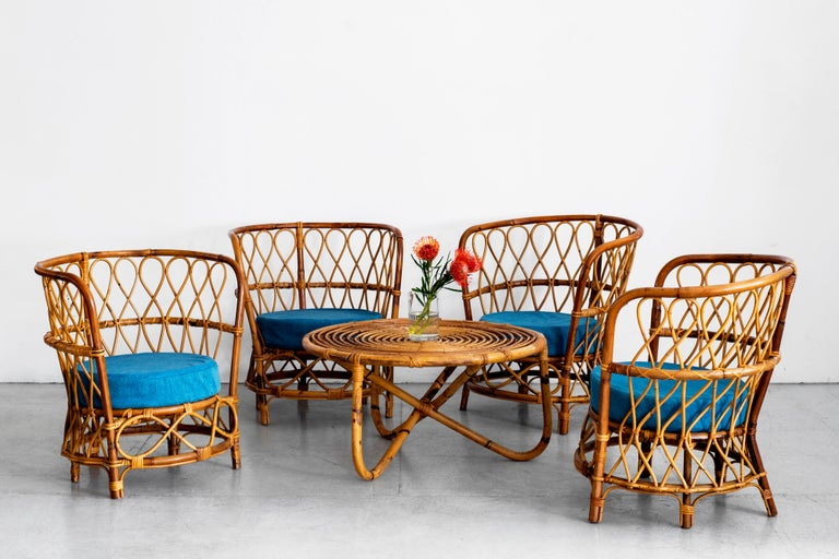 1940s Italian Caned Armchairs For Sale 7