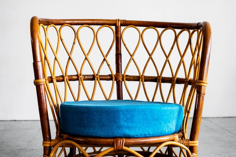 1940s Italian Caned Armchairs For Sale 8