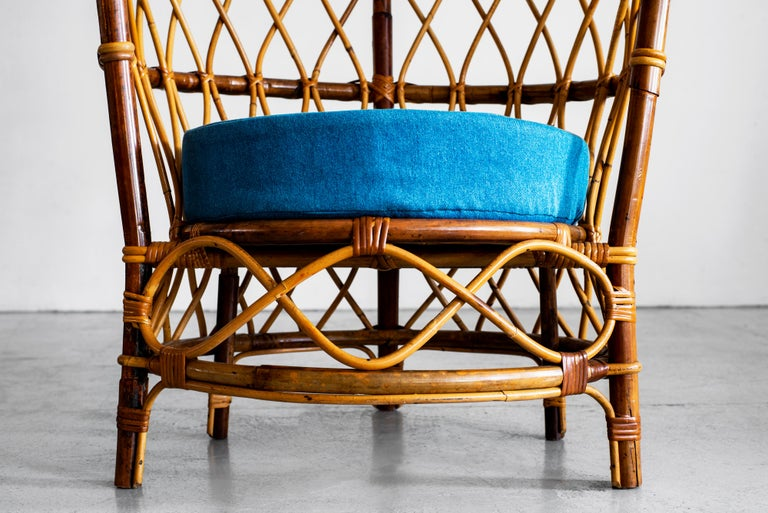 1940s Italian Caned Armchairs For Sale 9