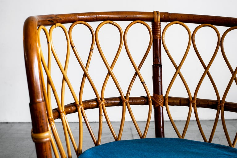 1940s Italian Caned Armchairs For Sale 10