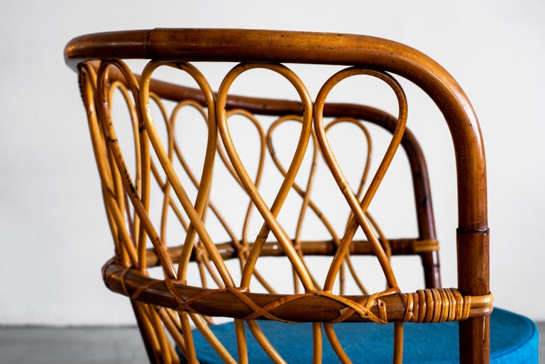 1940s Italian Caned Armchairs For Sale 11