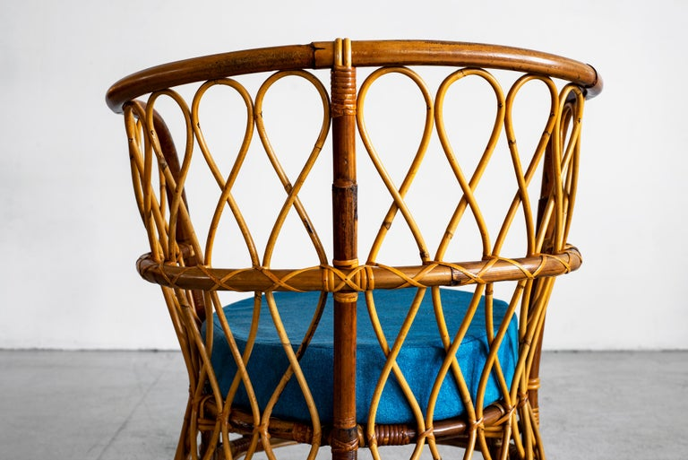 1940s Italian Caned Armchairs For Sale 12