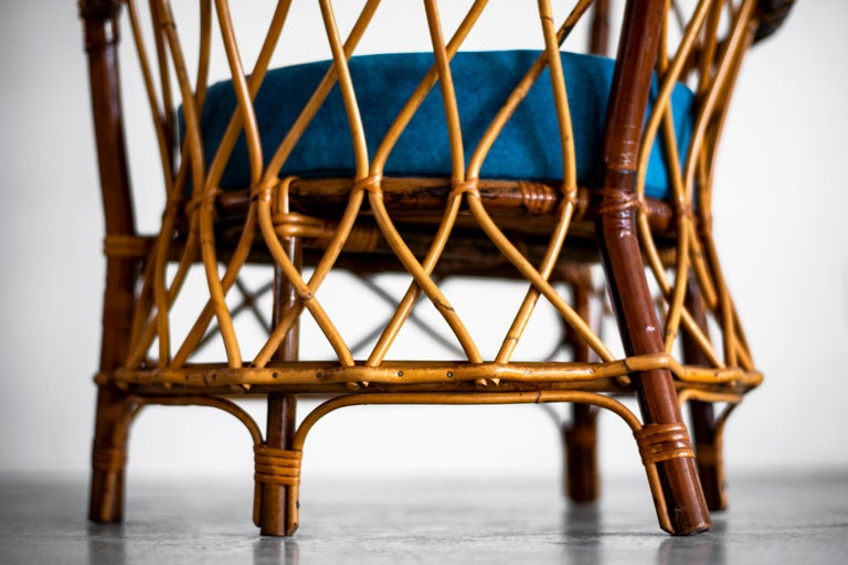 1940s Italian Caned Armchairs For Sale 14