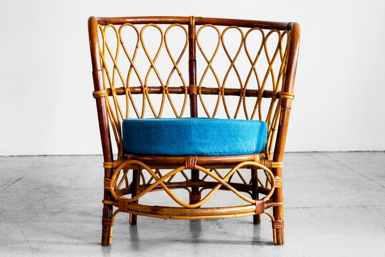 1940s Italian Caned Armchairs For Sale 1