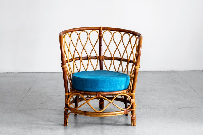 1940s Italian Caned Armchairs For Sale 2