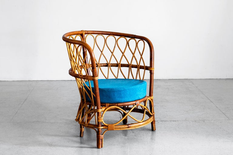 1940s Italian Caned Armchairs For Sale 3