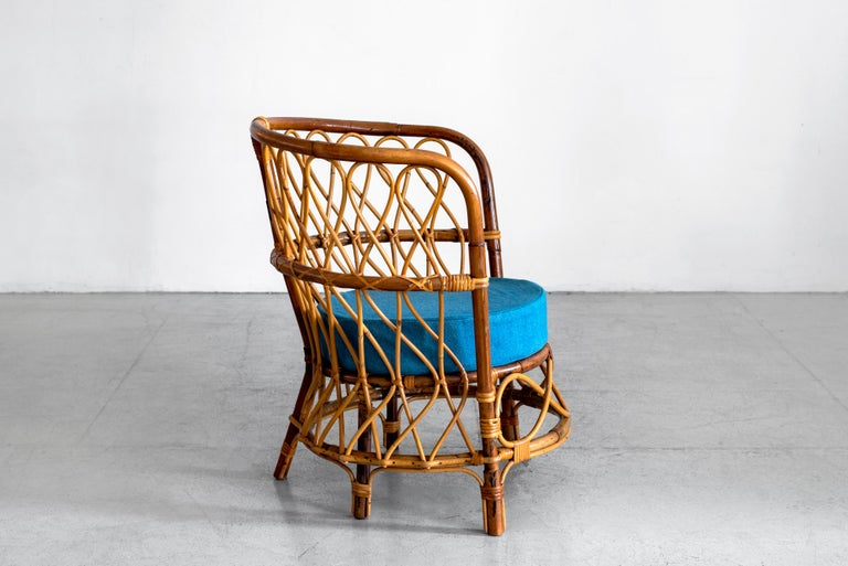 1940s Italian Caned Armchairs For Sale 4