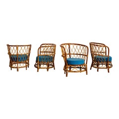 1940s Italian Caned Armchairs