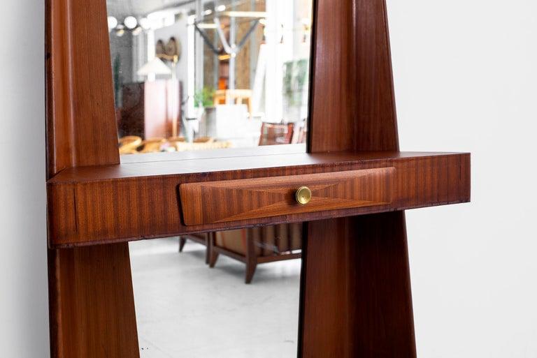 Mahogany 1940s Italian Entry Mirror For Sale