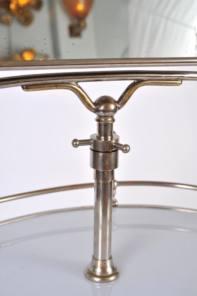 Mid-20th Century 1940s Italian Chrome Gentleman's Vanity or Dressing Stand For Sale