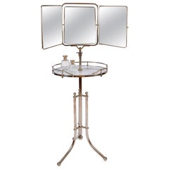 1940s Italian Chrome Gentleman's Vanity or Dressing Stand