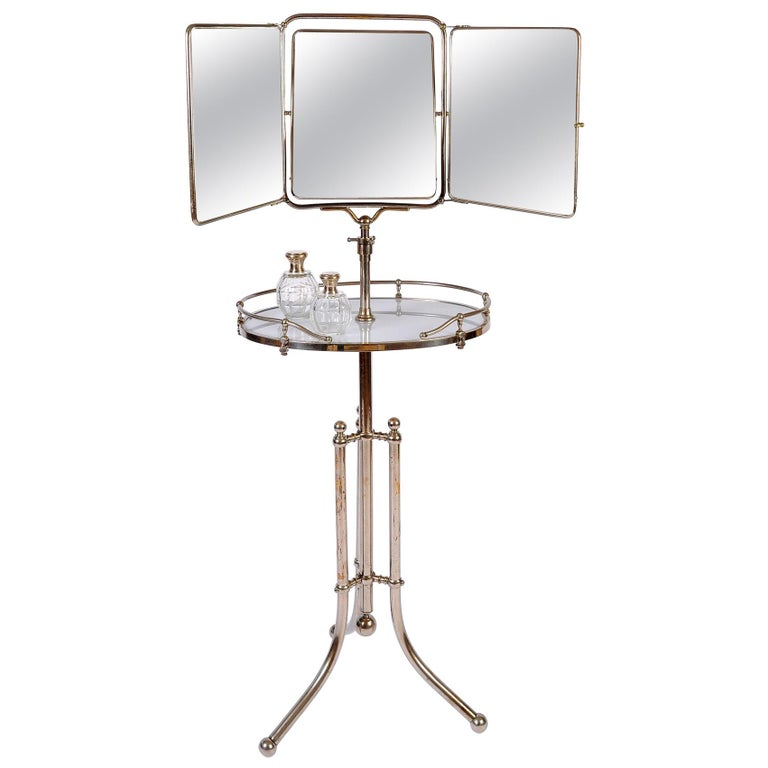1940s Italian Chrome Gentleman's Vanity or Dressing Stand For Sale