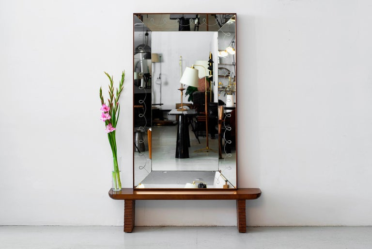 1940s Italian Mirror Console In Good Condition For Sale In Los Angeles, CA