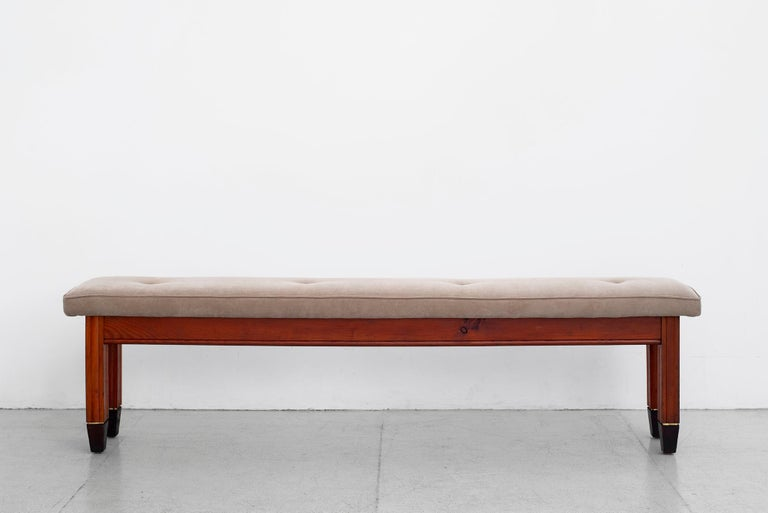 1940s Italian Oak Bench In Good Condition For Sale In Los Angeles, CA