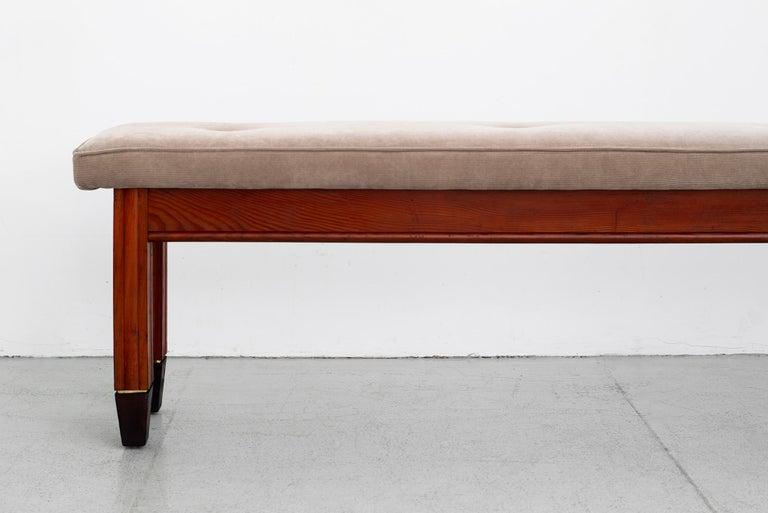 1940s Italian Oak Bench For Sale 5