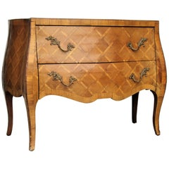 Italian Olive Wood Parquetry Commode