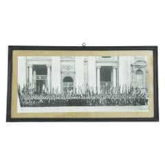 1940s Italian Photograph with Wooden Frame