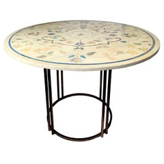 1940s Italian Pietra Dura Round Center Table