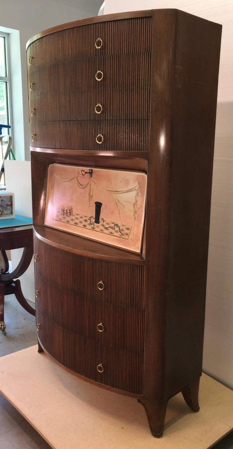 1940s Italian Secretaire a Cantù For Sale 4