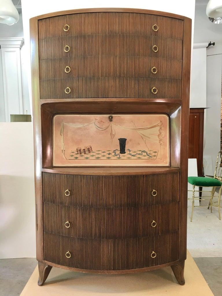 Mid-Century Modern 1940s Italian Secretaire a Cantù For Sale
