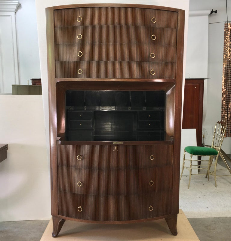 1940s Italian Secretaire a Cantù In Good Condition For Sale In Hingham, MA