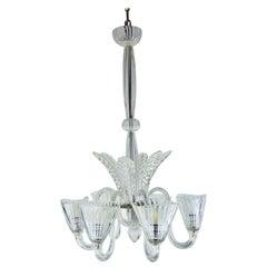 1940s Italian Venetian Murano Glass Chandelier