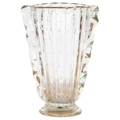 1940's Italian Wavy Glass Vase