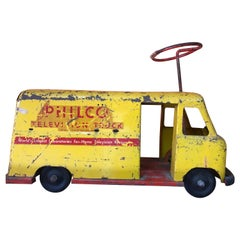 Vintage 1940's PHILCO TV Kids Ride On Toy Truck