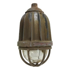 1940s Killark Electric Industrial Factory Light Explosion Proof, Large Scale