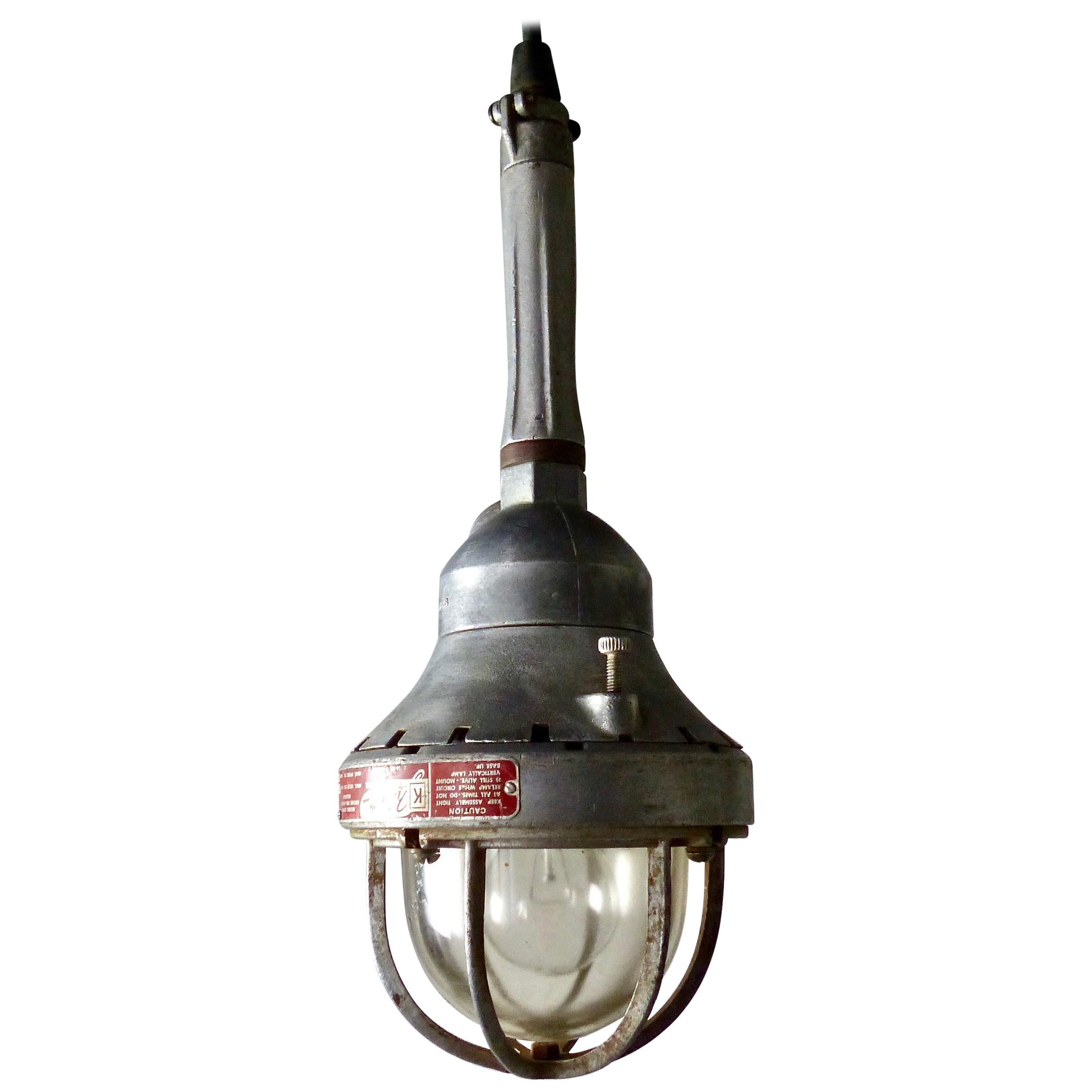 1940s Killark Industrial Factory Pendant Light, St. Louis, MO