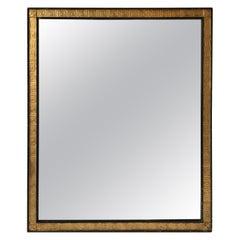 1940s Large Giltwood Greek Key Mirror
