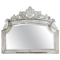 1940s Large Neoclassical Beveled Mirror, Spain, Majorca