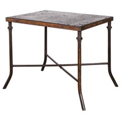 1940's Large Square Industrial Console Table