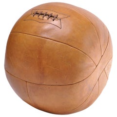 1940s MacGregor Goldsmith 9 LB Leather Medicine Ball