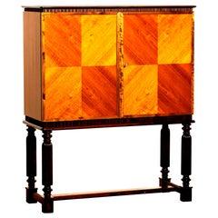1940s Mahogany Dry Bar Cocktail Sideboard Cabinet by Reimers Möbler, Sweden