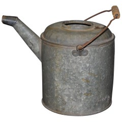 1940s Metal Galvanized Industrial Can