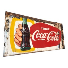 Vintage 1940's Mexican Coca Cola Tin Sign