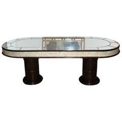 1940s Mirror-Clad Table
