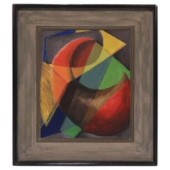 "1940s Modernist Oil Titled ""Study in Transparencies"" by Daniel Kornblum"